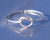 Celtic Knot Ring Adjustable Argentium Sterling Silver Wire Dainty Ring