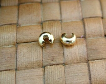 100 pcs 4mm Gold Plated Crimp Covers