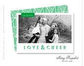 "holiday photo card, christmas photo card, modern, festive- ""Merry Snapshot"""