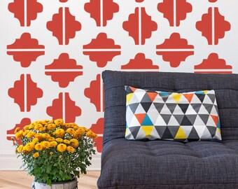 Geometric Wall Decal, Modern Home Decor, As Seen In Mollie Makes Magazine, Mid Century Modern, Retro Wall Decor, Nursery Wall Decal