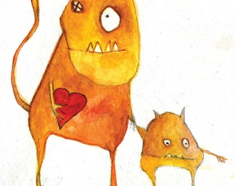 Monster Valentines (Greeting Card)