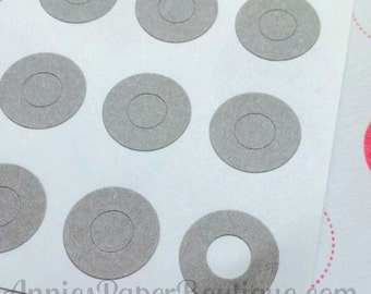 144 Gray Circle Reinforcements - Labels, Stickers - Hole Reinforcements, Grey