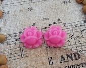 Flower Plugs Gauges Pink Roses