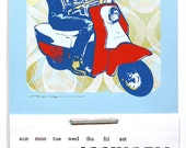 2014 Calendar: Denver Scooter - screenprint