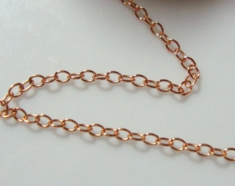 14K ROSE Gold Filled Cable Chain, 2x1.7mm,Sale 5% off Pretty Popular chain, Bulk 20 ft - Best seller chain