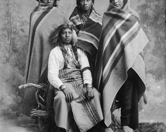 American Indians Grouping blankets front facing  Image 8 1/2 x 11 Image