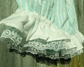 Free shipping XL Aqua and white striped bloomers