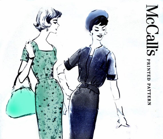 50s Mad Men Dress & Jacket sewing pattern McCalls 4889 Vintage Size 12 1/2 Bust 33 UNCUT FF