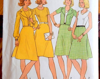 Vintage 1974 Printed Pattern Simplicity 6853 Size 16 Bust 38 Miss