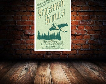 Stephen Stills 2010 Kent Concert Poster 1st Edition Print