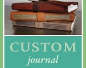 RESERVED for Josh: Custom leather anniversary book