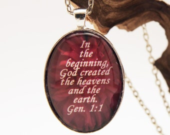 In the beginning God Created the heavens and the earth    Gen.  1:1.........     P210