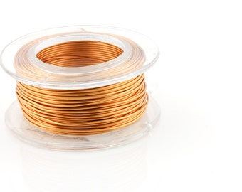 25% OFF!! WIRE - 22g (AWG)  Bronze - Enameled Copper Wire - 15 yard spool.