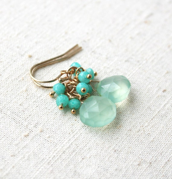 Pastel Green Earring, Bridesmaid Jewelry, Gemstone Jewelry