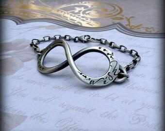 Infinity bracelet, Dandelion infinity bracelet, sterling infinity, dandelion wish, dandelion jewelry