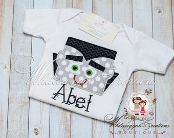 Halloween Vampire Personalized Shirt - Custom Dracula Shirt - Infant Halloween Shirt - Holiday Outfit - Baby First Halloween