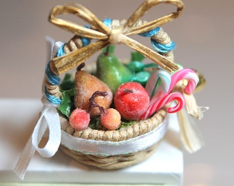 Fairy Basket - Christmas Sugared Fruit