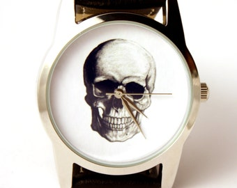 Watch skull skeleton, wristwatch