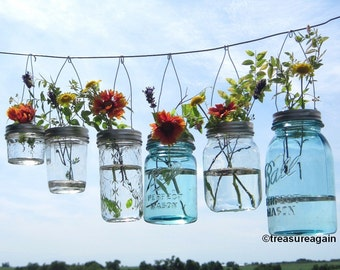 Hook Top Flower Hangers DIY Mason Jar Lids, Wedding Decorations Hanging Flower Frog Lids, No Mason Jars