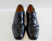 Mezlan Black Leather Loafer