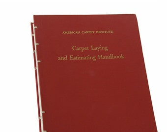 1959 CARPET LAYING Vintage Handbook Notebook