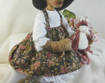 Harriette and Puss - pattern by Monica Spicer - FREE SHIPPING