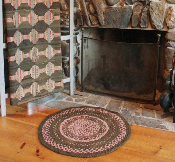Authentic Farmhouse Antique Braided Rug