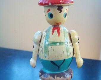 Vintage Wine Bottle Stopper Topper Cork Figurine from Japan