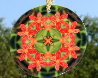 Suncatcher Leopard Flower Boho Chic Mandala New Age Sacred Geometry Hippie Kaleidoscope Blooming Inspiration