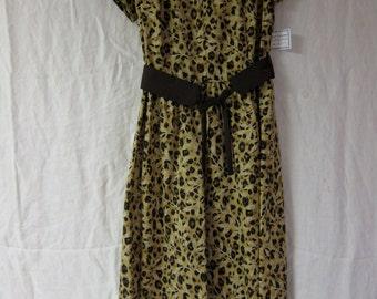 Animal Print Vintage Dress