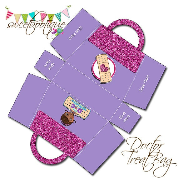 Doc McStuffins Bag - Party Treat Box 2 - Birthday Party or Wedding ...