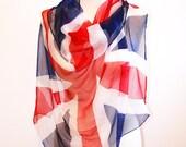 UK Flag Scarf - British Flag Silk Scarf