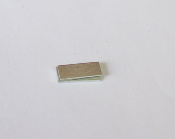 1/4 x 3/4 Aluminum Rectangle -  24 gauge  - hand stamping blanks -metal blanks