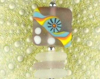 Sunburst GENUINE Lavender Sea Glass Necklace SRA Bead Jewelry