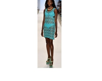 Beach dress Crochet  Cotton Swimwear Cover Up Made to Order in any size and color