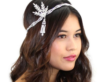 Great Gatsby Headpiece / Art Deco Headpiece / Crystal Flapper Headpiece / Kristin Perry