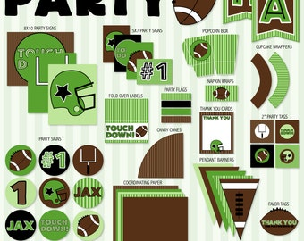Football Party PRINTABLE by Love The Day
