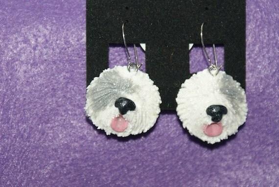 Earrings - Old English Sheepdog