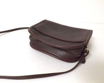 Vintage Coach Crossbody Mini Purse - Small Brown Leather Purse, Like New