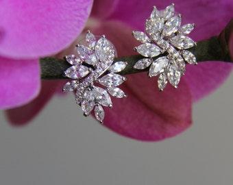 Bridal, wedding, round cubic zirconia CZ jewelry, wedding jewelry, bridal jewelry, wedding necklace, wedding earrings, bridesmaid jewelry