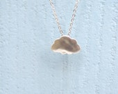 Rain Cloud Necklace, Silver Cloud Pendant, Tiny cloud necklace