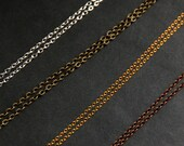 Necklace Chain in Silver, Gold, Bronze or Copper - Turn Any Charm into a Necklace. Copper Chain. Silver Chain. Gold Chain. Bronze Chain.
