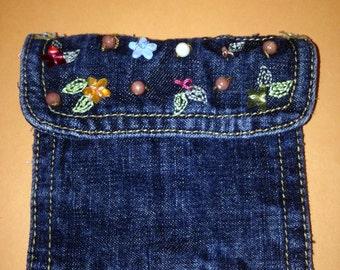 Re-purposed Blue Jean Pocket Purse