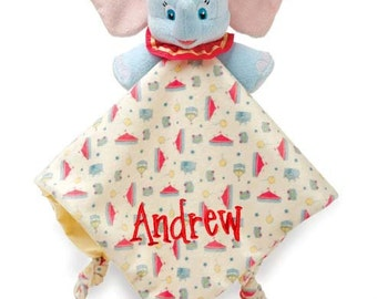PERSONALIZED Infant Baby Security Snuggly Blankie Disney's Dumbo the Elephant