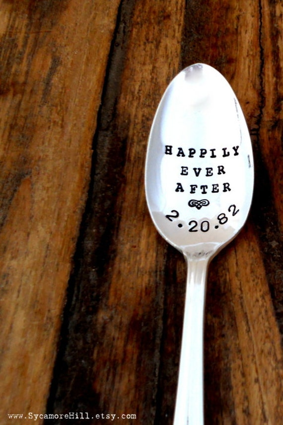 Happily Ever After - CUSTOM  Coffee Lovers Spoon  - The Original, Organically Upcycled Vintage Coffee & Espresso Spoons by Sycamore Hill
