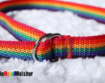 Adjustable Baby Toddler Belt. Rainbow Punk Rocker Alternative Rockabilly Little Girl 6-2T Kitschy Little Girl Accessories