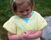 Pale Yellow Sweater-Shrug Size 6T
