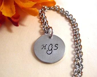 Personalized Jewelry, Monogram Jewelry, Hand Stamped Jewelry, Monogram Bracelet, Monogram Necklace