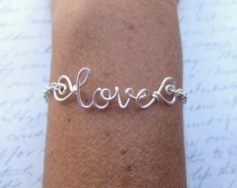 Custom Name Bracelet, Personalized Name Bracelet, Personalized Gifts, Custom Gifts, Name Jewelry, Silver Name on a Bracelet, My Name