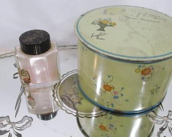 Vintage Cara Nome Powder Perfume & Toilet Powder - Ladies Vanity